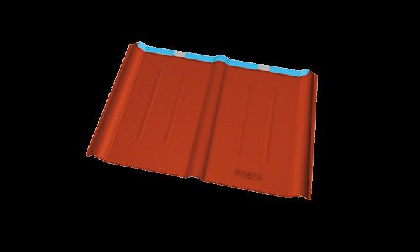 buildup-PREFA-Schweiz-PREFA-Dachplatte-oxydrot-Dachplatte